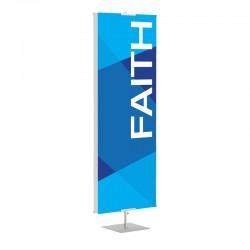 Praise Geometric Blue Faith Banner Stands