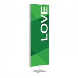 Praise Geometric Green Love Banner Stands