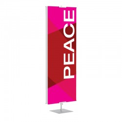 Praise Geometric Red Peace Banner Stands