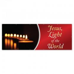 Christmas Jesus Light of the World Outdoor Vinyl Banner