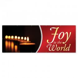 Christmas Joy to the World Outdoor Vinyl Banner