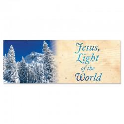 Christmas Winter Jesus Light of the World Outdoor Vinyl Banner