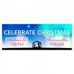 Christmas Nativity Outdoor Vinyl Banner
