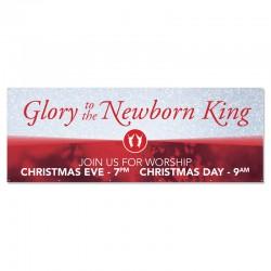 Christmas Glory to the Newborn King Outdoor Vinyl Banner