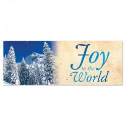Christmas Winter Joy to the World Outdoor Vinyl Banner