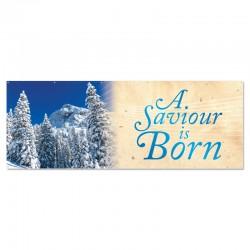 Christmas Winter Trees A Saviour is Born Outdoor Vinyl Banner
