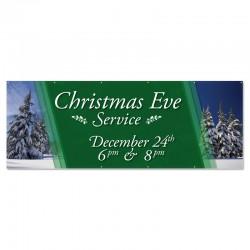 Christmas Eve Service Outdoor Vinyl Banner