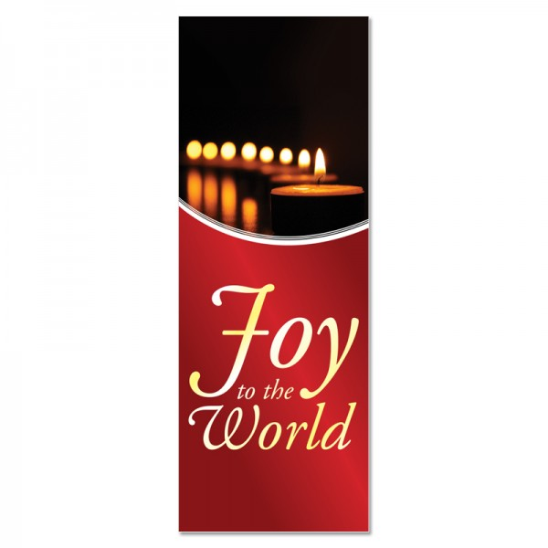 Christmas Joy to the World Indoor Vinyl Banner
