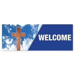 Welcome Holy Cross Outdoor Vinyl Banner
