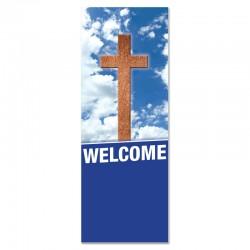 Welcome Holy Cross Indoor Vinyl Banner