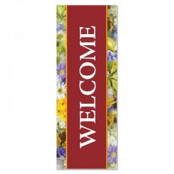 Welcome Flowers Indoor Vinyl Banner