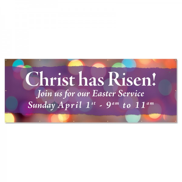 Easter Christ has Risen Outdoor Vinyl Banner