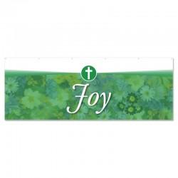 Praise Flowers 2 Green Joy Outdoor Vinyl Banner