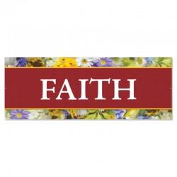 Praise Flowers Faith Outdoor Vinyl Banner