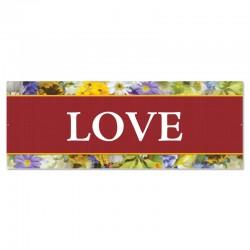 Praise Flowers Love Outdoor Vinyl Banner