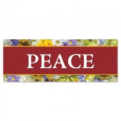 Praise Flowers Peace Outdoor Vinyl Banner