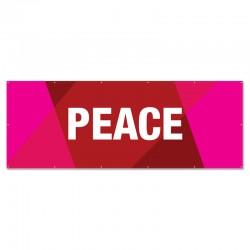Praise Geometric Red Peace Outdoor Vinyl Banner