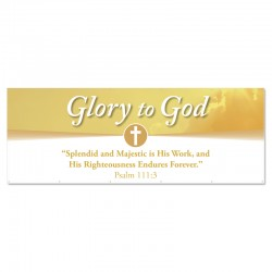 Praise Clouds Glory to God Outdoor Vinyl Banner