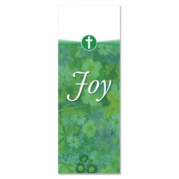 Praise Flowers 2 Green Joy Indoor Vinyl Banner