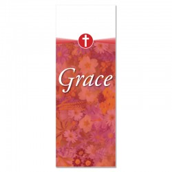 Praise Flowers 2 Red Grace Indoor Vinyl Banner