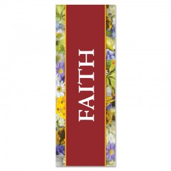 Praise Flowers Faith Indoor Vinyl Banner