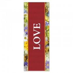Praise Flowers Love Indoor Vinyl Banner