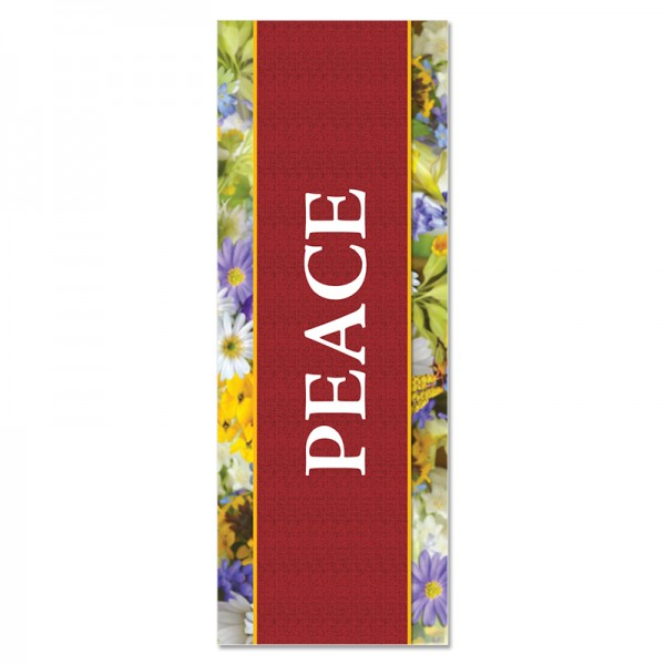 Praise Flowers Peace Indoor Vinyl Banner
