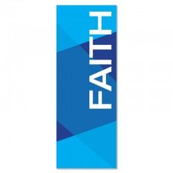 Praise Geometric Blue Faith Indoor Vinyl Banner