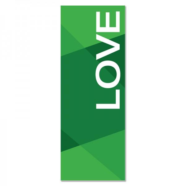Praise Geometric Green Love Indoor Vinyl Banner