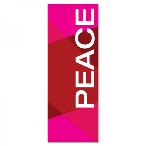 Praise Geometric Red Peace Indoor Vinyl Banner