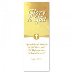 Praise Clouds Glory to God Indoor Vinyl Banner