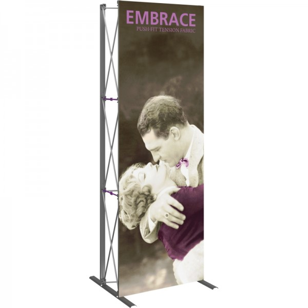 Push Fit 2.5 FT Wide Straight Tabletop Display