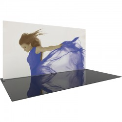 Extra Tall 20 FT Wide Straight Fabric Display