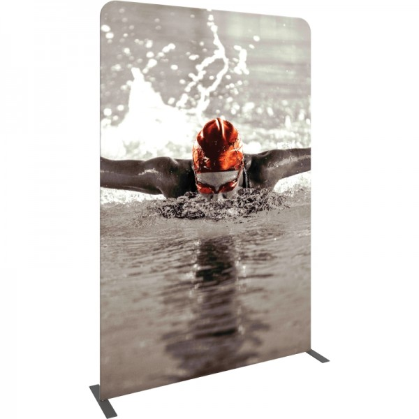 59 Inch Wide Straight Fabric Banner Stand