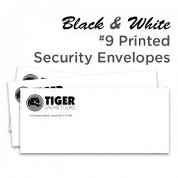 B&W #9 Printed Security Envelope