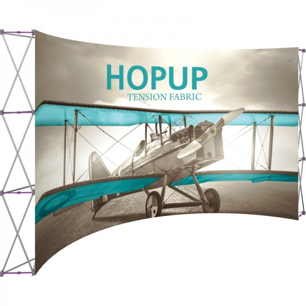 Extra Wide 15ft Wide x 10ft High Curved Tension Fabric Display