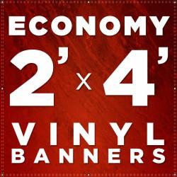 2' x 4'  Vinyl Banner