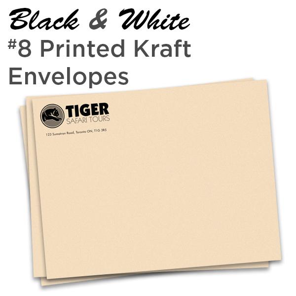 B&W 10 x 13 Printed Kraft Envelope