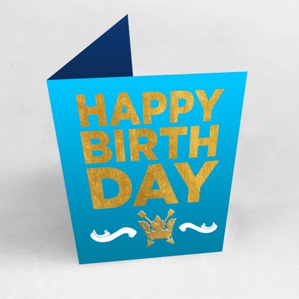 """5"""" x 7"""" Custom Printed Greeting Cards (Gold or Silver Foil Finish)"""