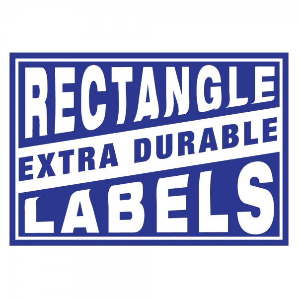 Rectangle Extra Durable Labels