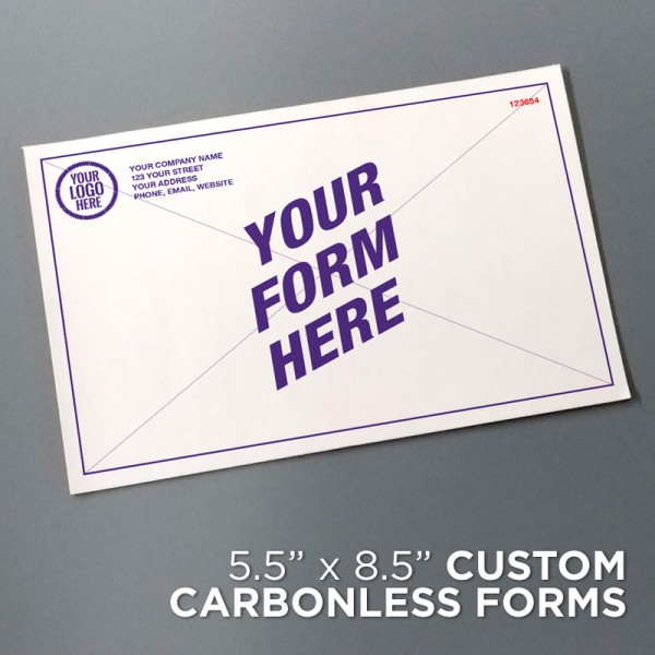 "5-1/2"" x 8-1/2"" Custom Carbonless Forms"