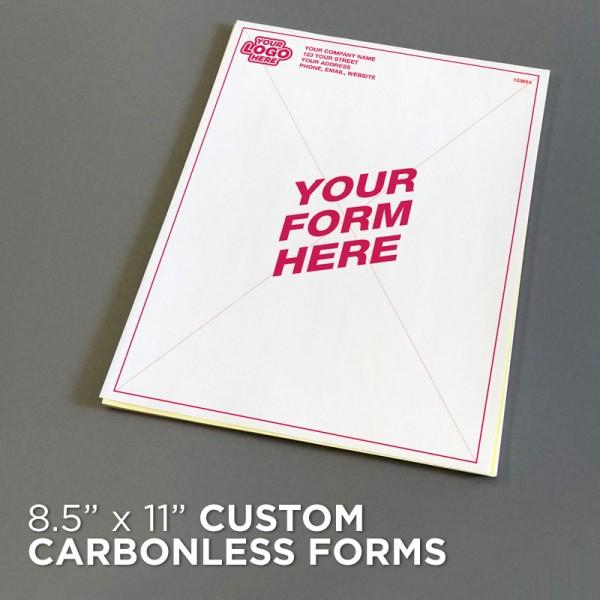 "8-1/2"" x 11"" Custom Carbonless Forms"