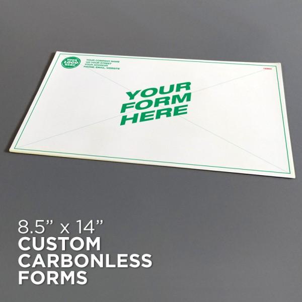 "8-1/2"" x 14"" Custom Carbonless Forms"