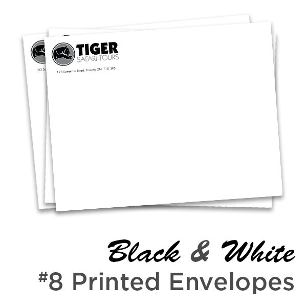 B&W Printed 10x13 Envelopes