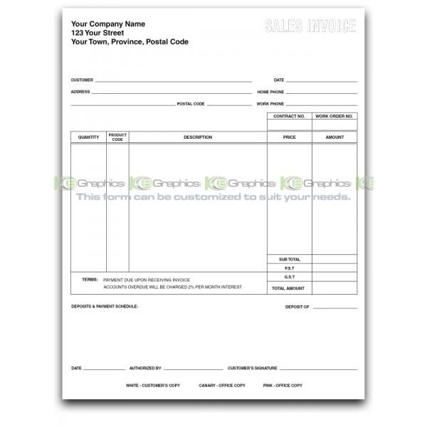 Pool Sales Invoice