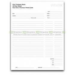 Pool Quotation Form for Pool Liners