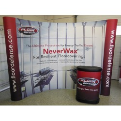 10' wide x 8' high Curved Pop Up Trade Show Display