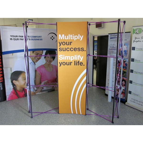 10' wide x 8' high Straight Pop Up Trade Show Display