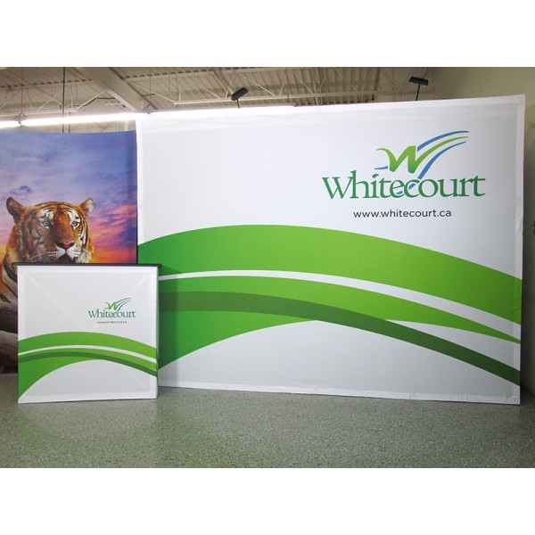 10FT Wide Straight Fabric Trade Show Display