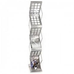 Zedup-1 Silver Literature Rack